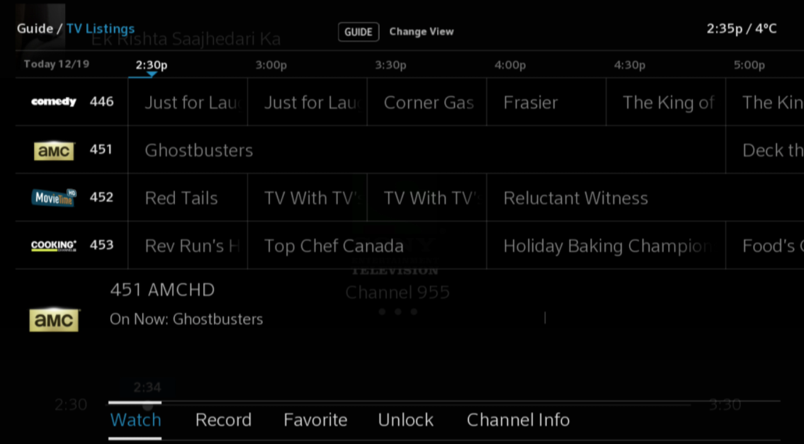 shaw tv channel guide calgary