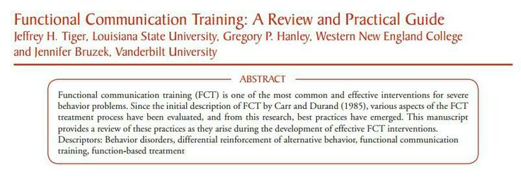 functional communication training a review and practical guide
