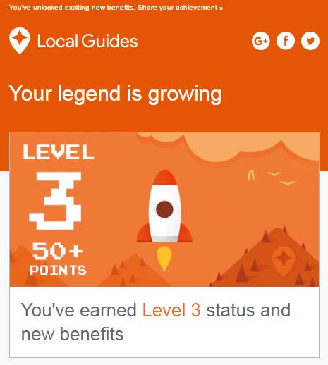 google local guide level benefits