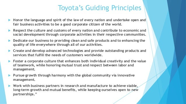 what are guiding principles in business